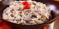 delicioso arroz cremoso à brasileira