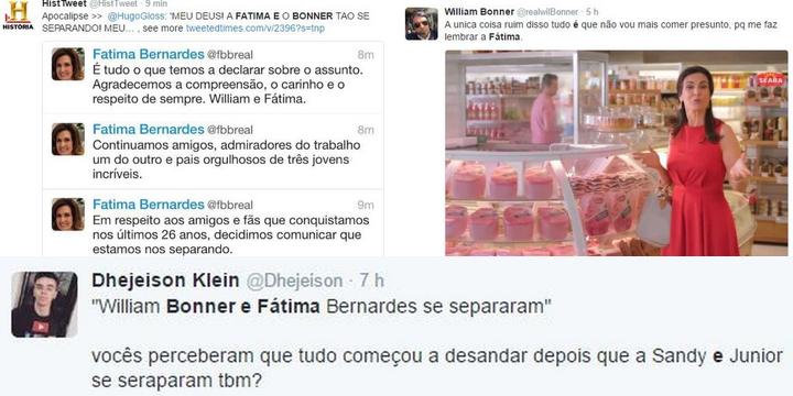 Memes Separação William Borner e Fatima Bernardes