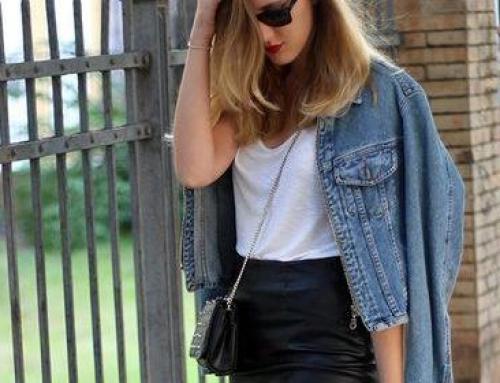 4 formas para arrasar com sua saia midi de couro
